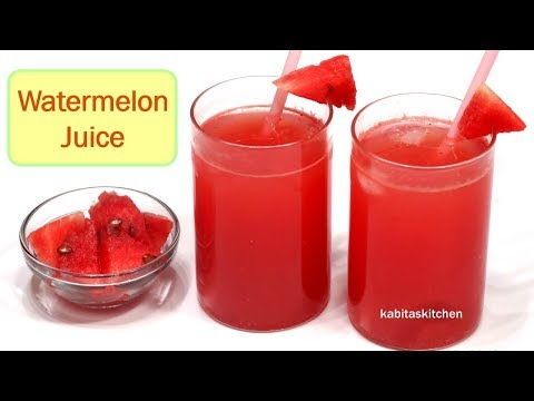 Watermelon Juice Recipe | Summer Drink recipe | kabitaslifestyle
