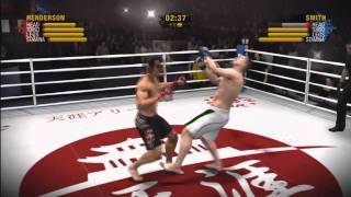 EA Sports MMA - Crazy combo into a spinning back fist knock out