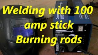 How to weld with the 100 amp stick welder: part 1