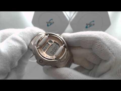 Champagne Pink Casio Baby G Whale Series Watch BG169G-4