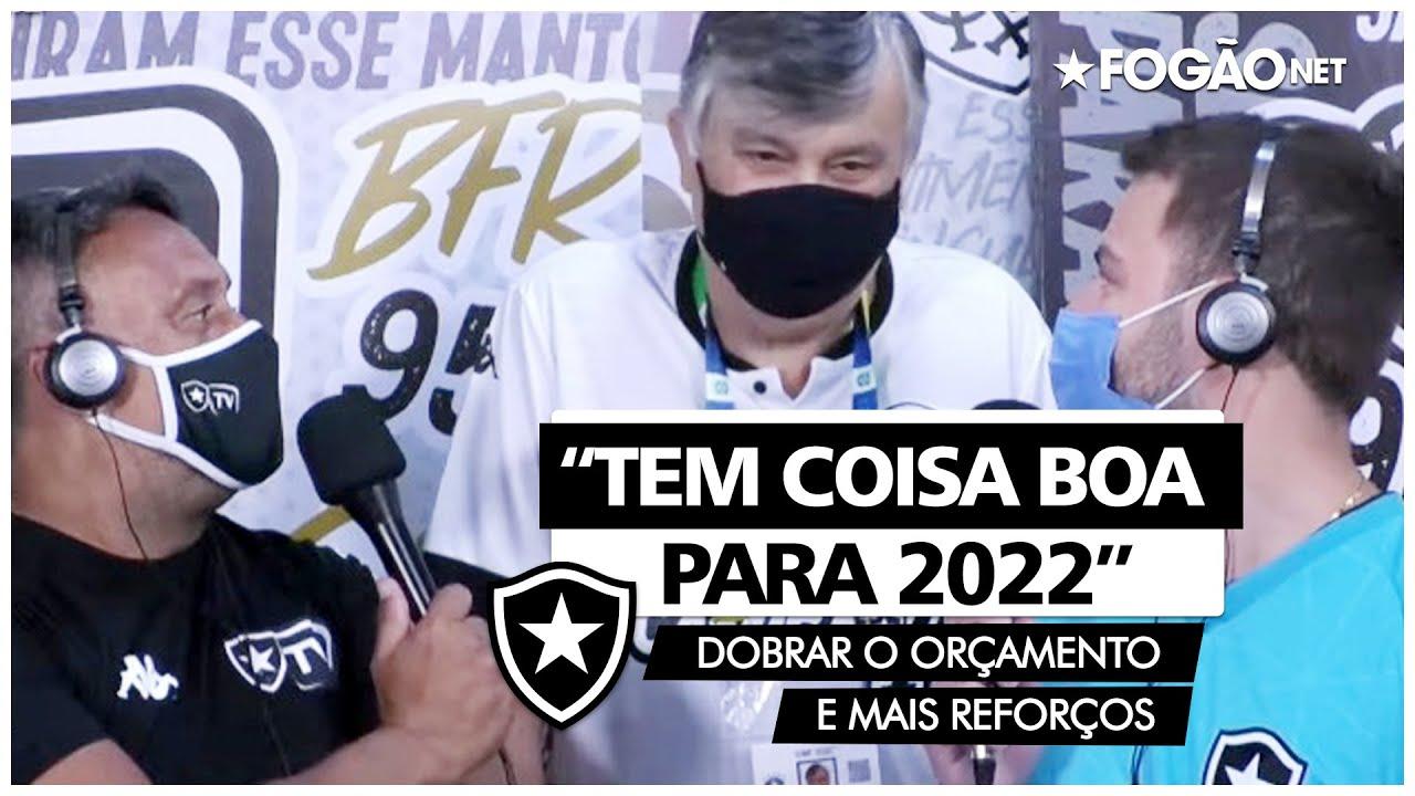 Botafogo já planeja 2022 com mais que o dobro do orçamento e reforços de alto nível: 'Tem coisa boa para o ano que vem'