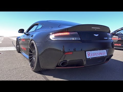 Aston Martin V8 Vantage N430 - Cold Start Up, Revs & Accelerations!
