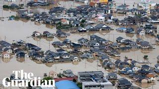 Torrential rain causes flooding as Typhoon Hagibis hits Japan