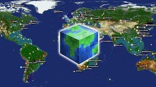 СЕРВЕР НАШЕГО МИРА! ОТ РОССИИ ДО АМЕРИКИ. Планета земля в реальных масштабах в Майнкрафт