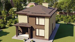 Проект дома 152-C, Площадь дома: 152 м2, Размер дома:  14,2x7,6 м