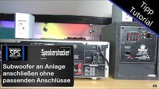 Subwoofer an jeder Stereoanlage anschließen ohne passende Anschlüsse