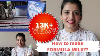 FORMULA MILK :how to prepare?? LACTOGEN Milk POWDER|| Baby Formula Milk