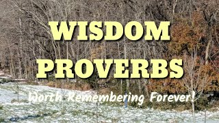 Famous Wisdom Quotes I Selected Quotes From Book Of Proverbs