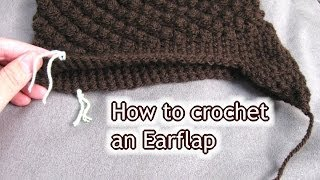 How to attach Ear Flaps onto Hat or Beanie - Beginner crochet tutorial