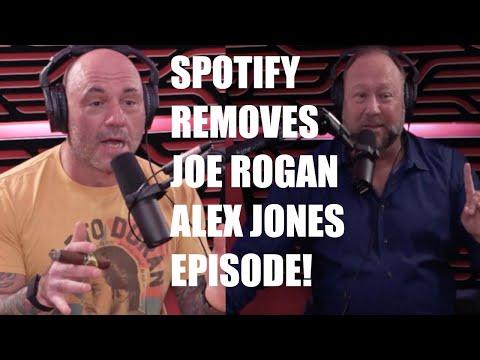 Spotify REMOVES Joe Rogan Podcast With Alex Jones, Joe Rogan CALLS THEM OUT!