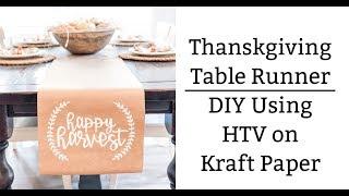 Thanksgiving Runner DIY Kraft Paper Long