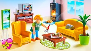 Playmobil Dollhouse Living Room With Fireplace