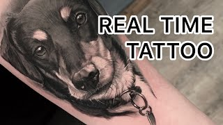 REAL TIME TATTOO - Dog Portrait