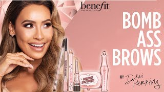 Desi Perkins shares her brow obsession with her hand-picked Benefit brow favorites!   SHOP THE LOOK http://bit.ly/bombassbrows  With limited-edition rose gold packaging & a specially designed box by Desi, this kit features 4 FULL-SIZE Benefit brow bestsellers, PLUS 1 mini & 1 PRO tool at a MAJOR value! Available in 5 custom shade combinations that include a mix of light & dark shades to create Desi's signature ombré-effect, dimensional brows!   SET INCLUDES • precisely, my brow pencil ultra-fine shape & define pencil | full-size • ka-BROW! cream-gel brow color | mini • foolproof brow powder | full-size • 24-HR brow setter | full-size • high brow highlight & lift pencil | full-size • angled brow brush & spoolie  CHECK US OUT ON SOCIAL Instagram:  http://www.instagram.com/benefitcosmetics Snapchat: benefitbeauty Facebook:  http://www.facebook.com/benefitcosmetics Twitter: http://www.twitter.com/benefitbeauty