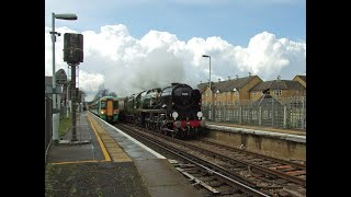 preview picture of video 'MN no.35028 'Clan Line' with a Surrey Hills VSOE 20/04/12'