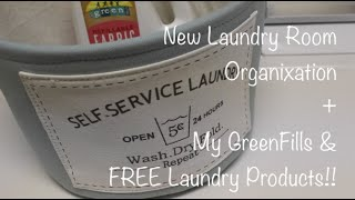 New Laundry Room Accessory & Detergent (My GreenFills)