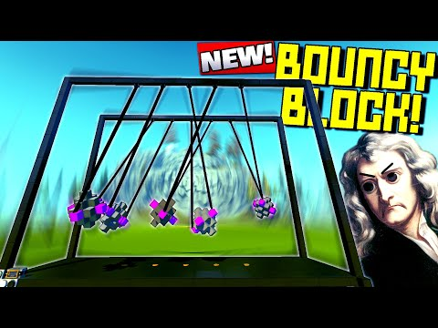 The Best or Worst Newton's Cradle Ever? (Reality Breaking) - Scrap Mechanic Gameplay
