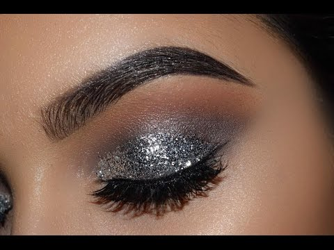 SILVER GLITTER EYES MAKE UP TUTORIAL 2017
