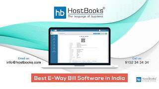 HostBooks E Way Bill Software
