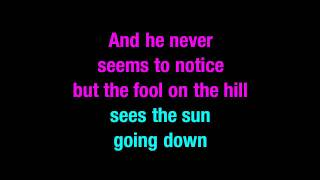 Fool On The Hill The Beatles Karaoke - You Sing The Hits
