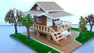 How To Make A Cardboard Dollhouse With Beautiful Garden  Simple