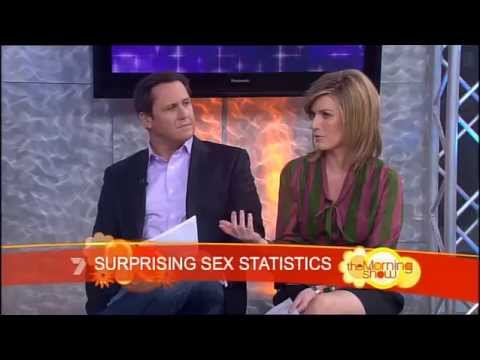 Channel 7 presenter reacts to talking about average penis size