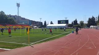 Тренировка сборной Бразилии по футболу в Сочи