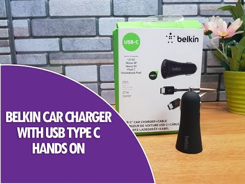 Belkin Car Charger (27W Fast Charging) with USB Type C Hands on