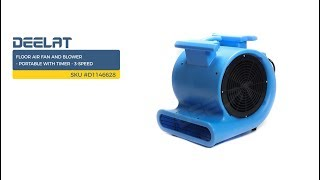 Floor Air Fan and Blower - Portable with Timer - 3-Speed     SKU #D1146628