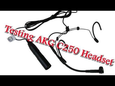 Testing the AKG C520 headset