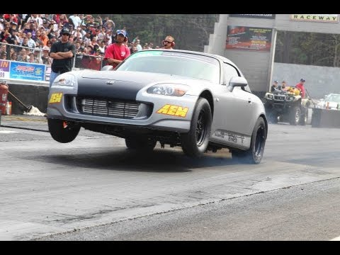 Heavily Modified Honda S2000 Wheelie