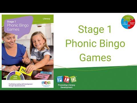 Phonic Bingo Games - Stage 1