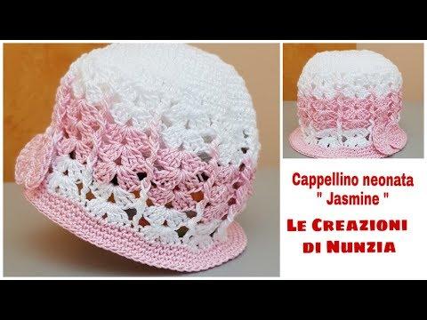 Download Cappellino Neonata Jasmine A Uncinetto 0 3 Mesi
