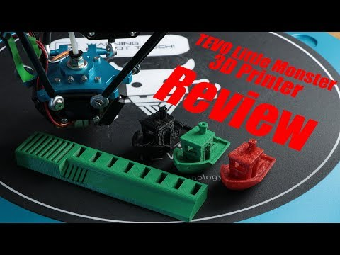 TEVO Little Monster 3D Printer Review – 800$ Big Delta 3D Printer with direct extruder?