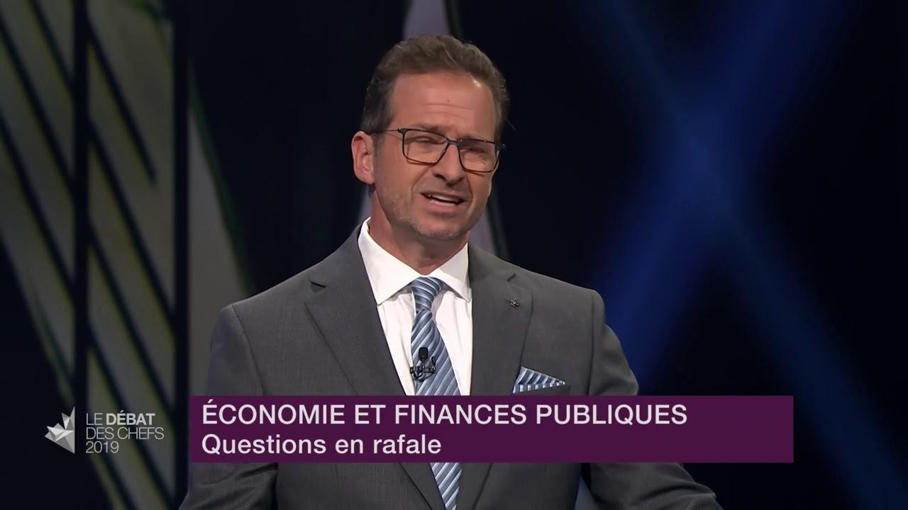 Yves-François Blanchet répond à la question du modérateur sur l'environnement et GNL-Québec
