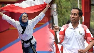 Perolehan Medali Emas Pertama Indonesia di Asian Games 2018 Disaksikan Langsung oleh Jokowi