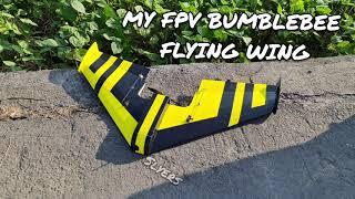 FT Mini Arrow Bumblebee FPV Flying wing 4s speed test.