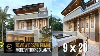 Video Desain Rumah Modern 3 Lantai Ibu Stephanie di  Jakarta Barat