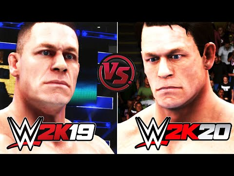 WWE 2K20 vs WWE 2K19 (Faces/Finishers/Blood/Hair Physics) Comparison | ARE GRAPHICS WORSE OR BETTER?