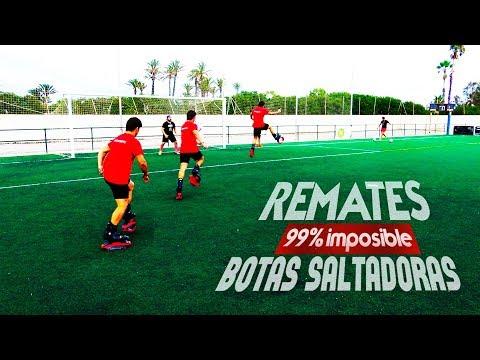 REMATE 99% IMPOSIBLE con BOTAS SALTADORAS ¡RETO FÚTBOL!