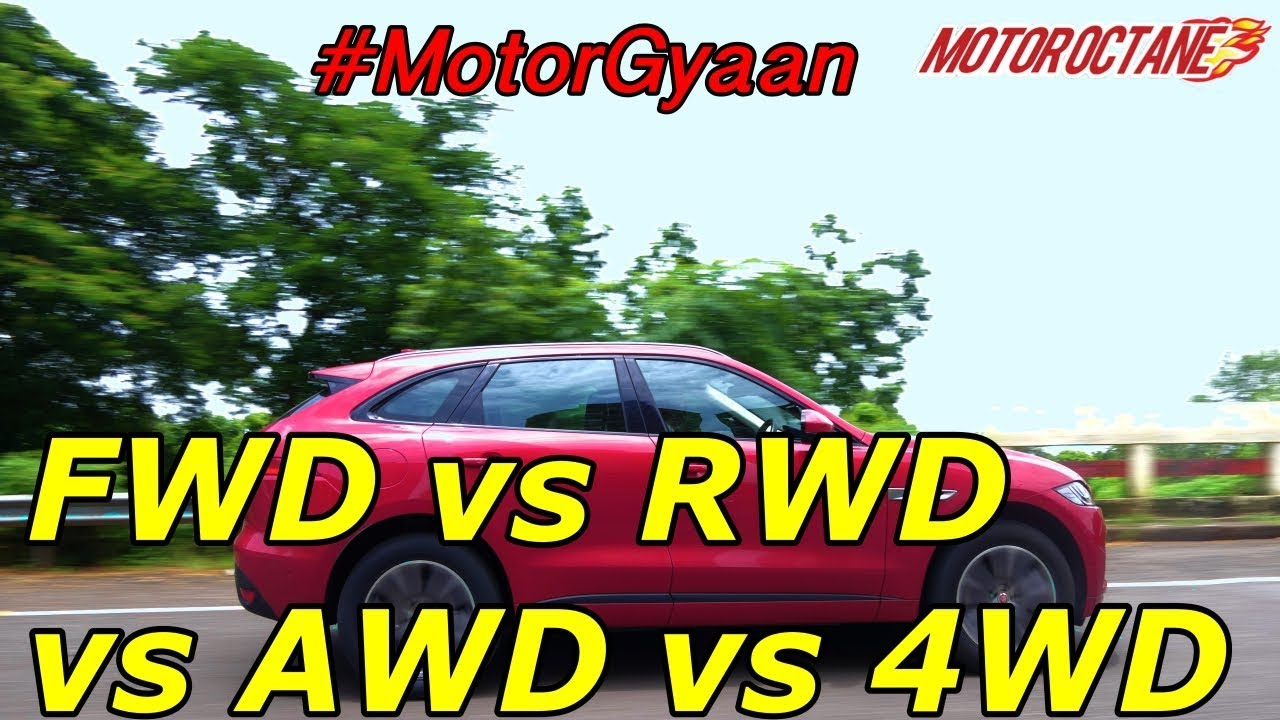 Motoroctane Youtube Video - Front wheel drive vs rear vs all wheel vs 4 wheel drive in Hindi | #MotorGyaan | MotorOctane
