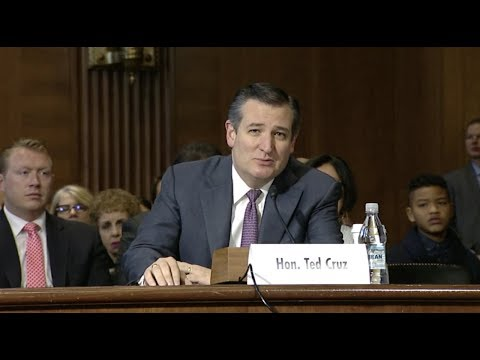 Sen. Cruz Introduces Bernie McNamee at Energy and Natural Resources Committee