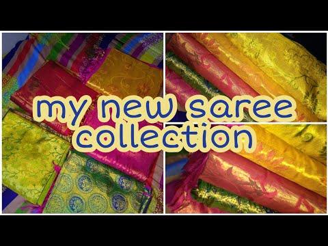 My saree collection   latest saree collection   latest pattu sarees   maggam work blouses