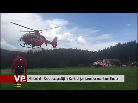 Militari din Ucraina, școliți la Centrul jandarmilor montani Sinaia