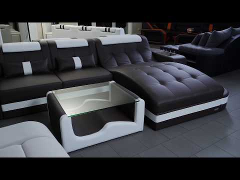 Sofa Dreams Luxussofa Wave mit LED Beleuchtung
