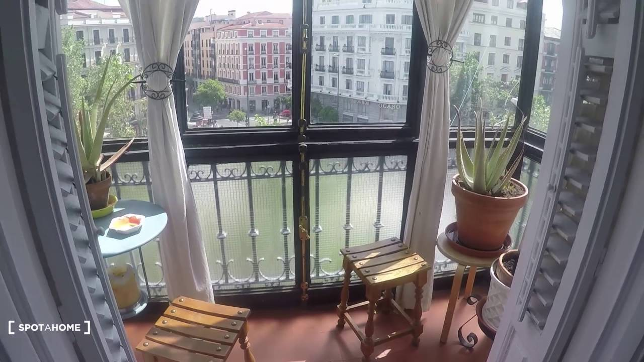 Fantastic 3-bedroom apartment with exterior balconies and AC in Almagro