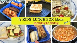 5 Kids LUNCH BOX IDEAS ( part 2 ) MONDAY to FRIDAY lunch ideas for kids & adults