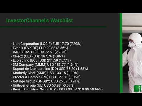 InvestorChannel's Disinfection Watchlist Update for Monday, March, 08, 2021, 16:00 EST