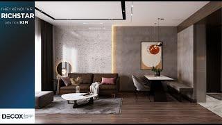 Mẫu thiết kế nội thất căn hộ tại Richstar với phong cách...