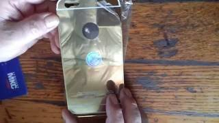 Золотой чехол для iphone 5,5S от компании Интернет-магазин-Модной дешевой одежды. - видео